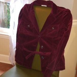 Stretchy blazer with tie